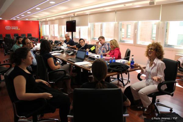 """Grupo de trabajo durante las Jornadas """"Madrid en la Agenda 2030"""" organizadas por la Fundación Vicente Ferrer en mayo de 2017."""